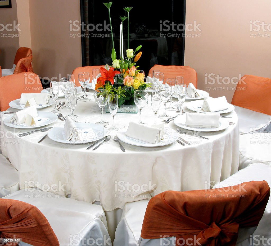 Wedding dinner royalty-free stock photo