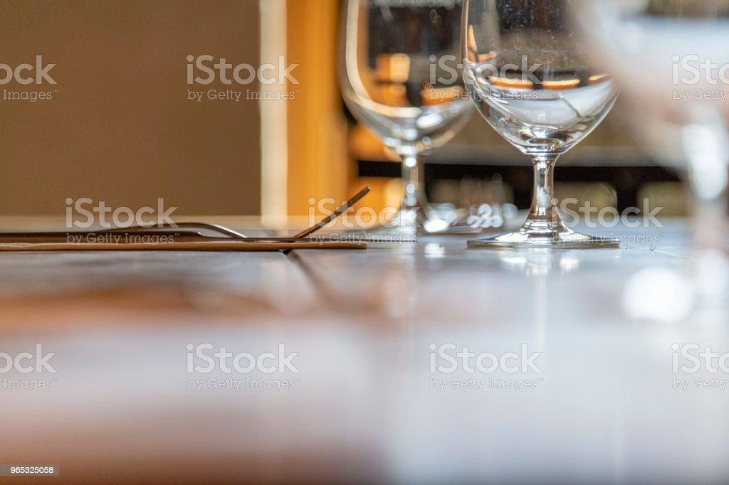 Wedding dinner table royalty-free stock photo