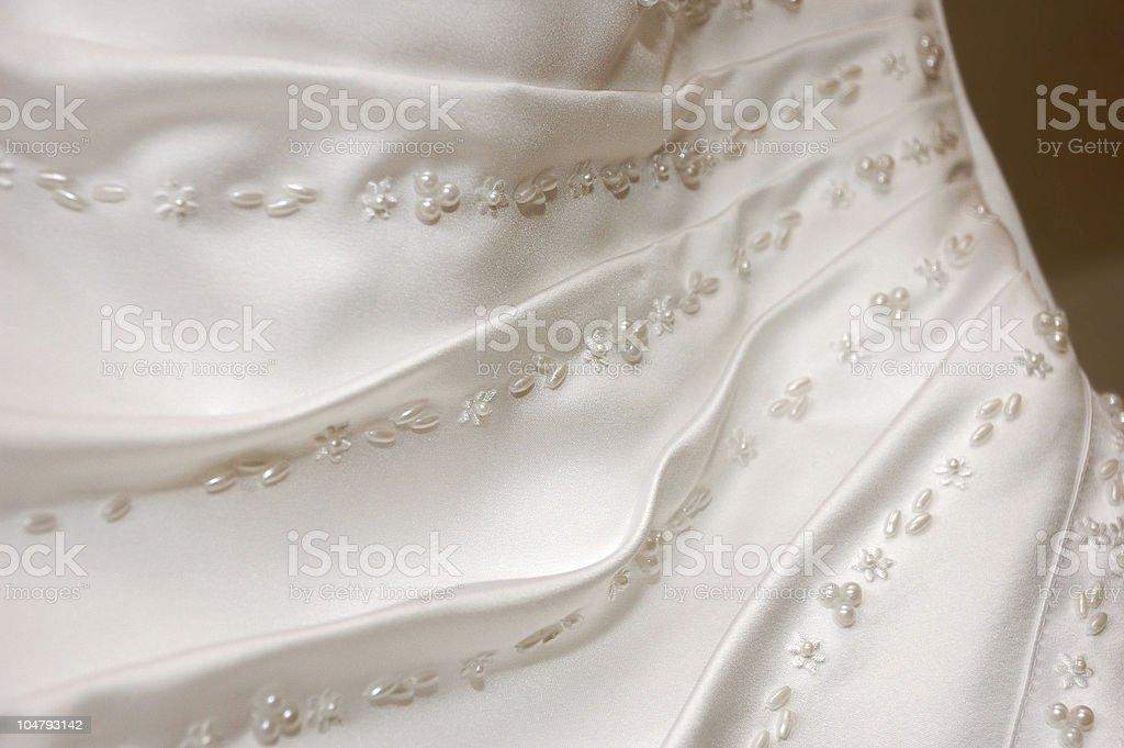Wedding dress detail stock photo