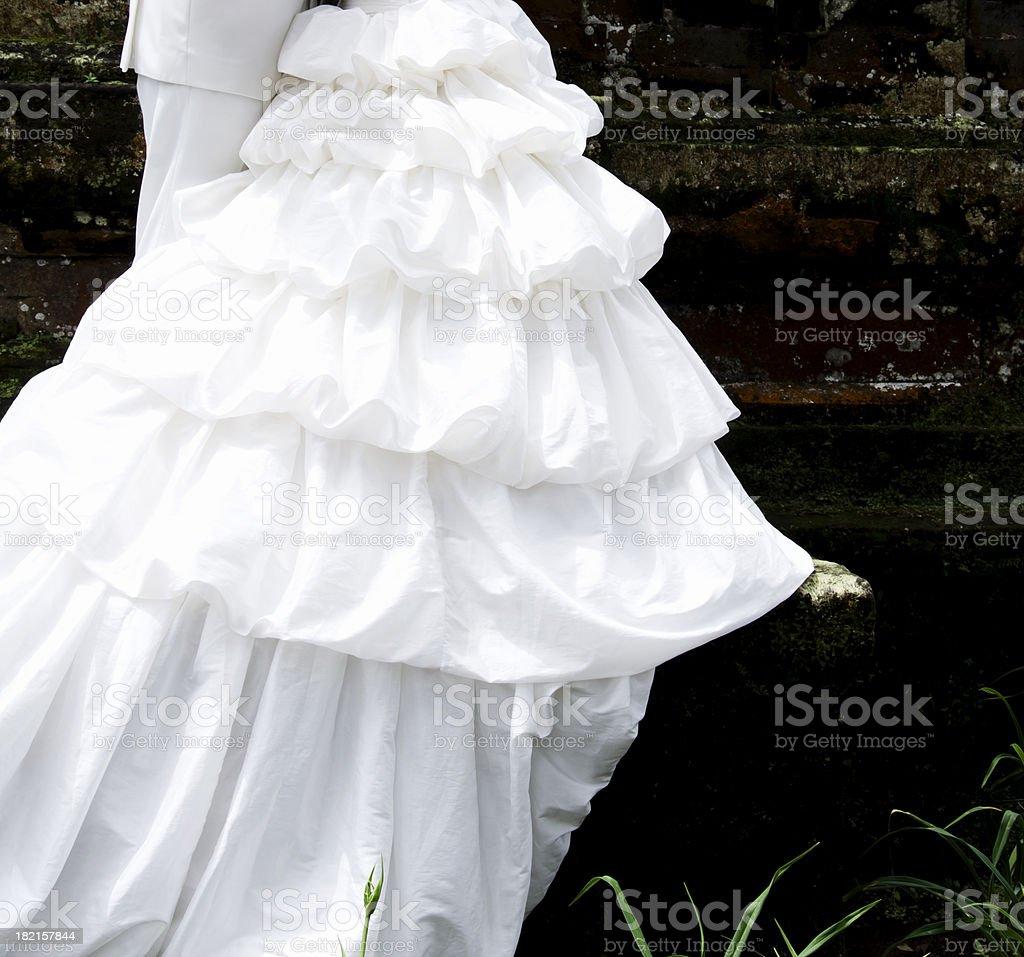 Wedding dress detail royalty-free stock photo