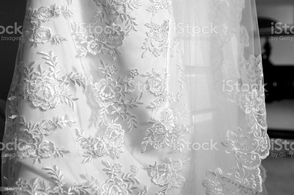 Vestido de casamento, detalhe - foto de acervo