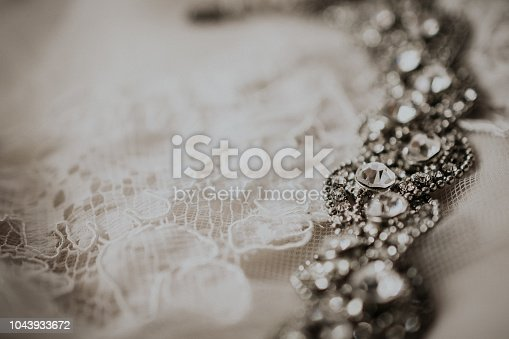 Tulle with decoration