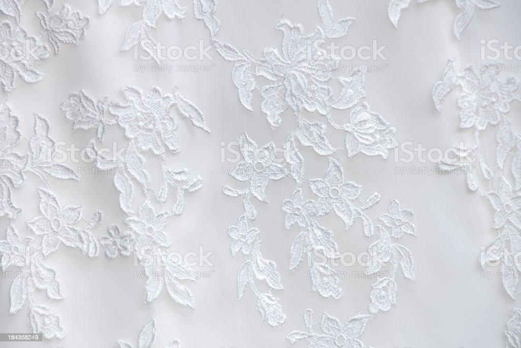 Wedding Dress Lace Detail stock photo