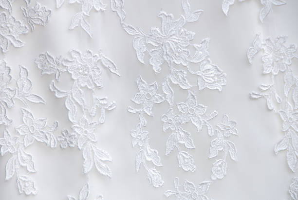 Wedding Dress Lace Detail Wedding Dress Lace Detail lace textile stock pictures, royalty-free photos & images