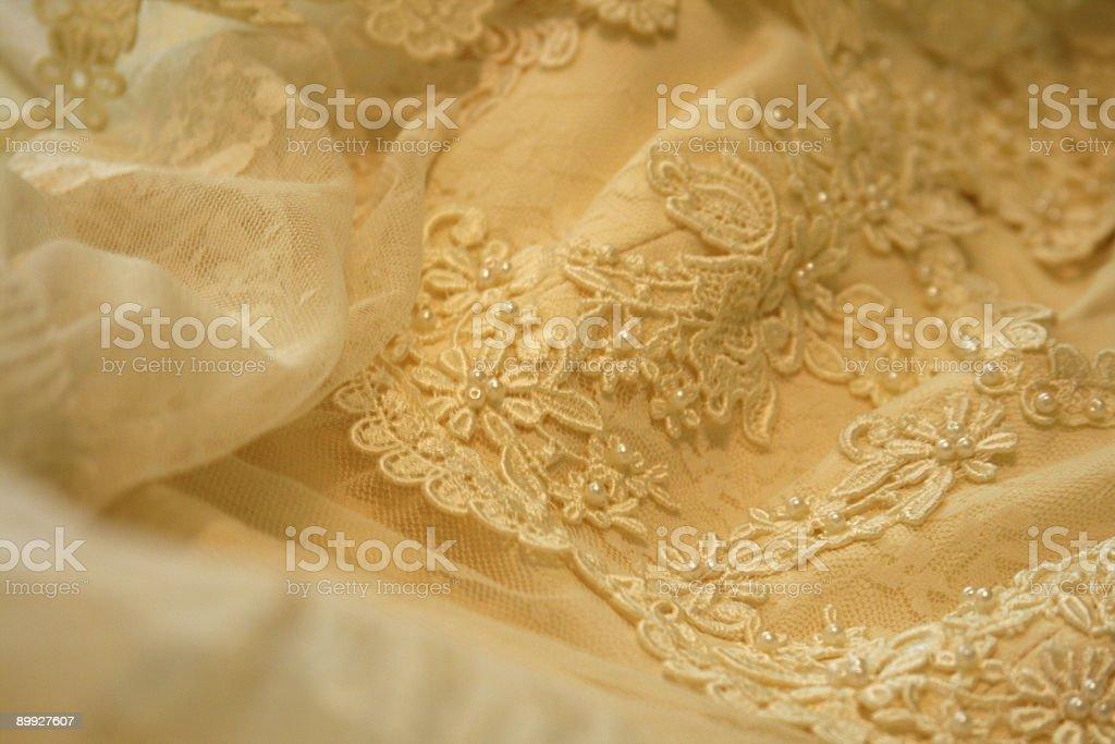 Wedding Dress Lace Detail: Romance Background stock photo