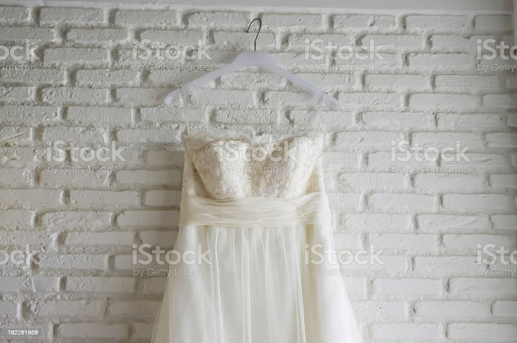 Wedding dress royalty-free stock photo