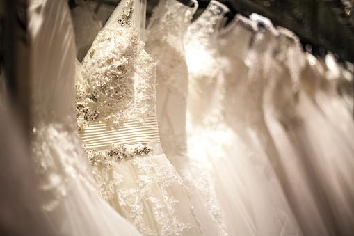 Wedding Dress Rack Stock Photo - Download Image Now - iStock