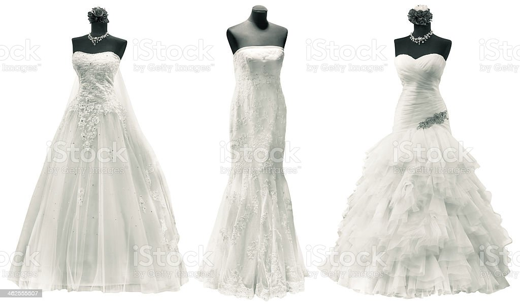 Wedding Dresses Cutout stock photo