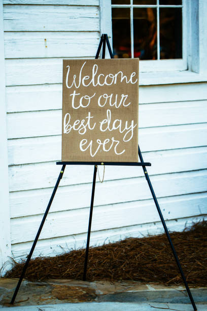 Wedding Entrance Sign stock photo