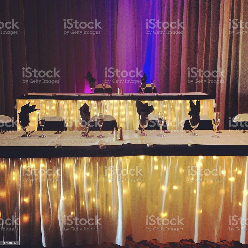 Wedding Event Tables stock photo