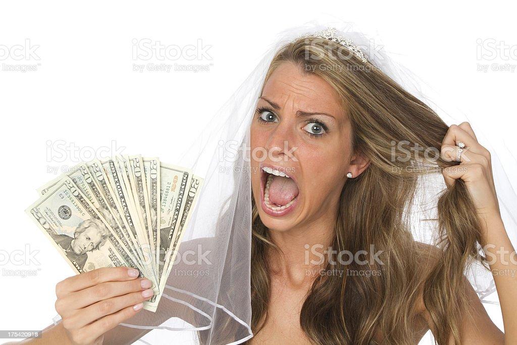 wedding expense stock photo