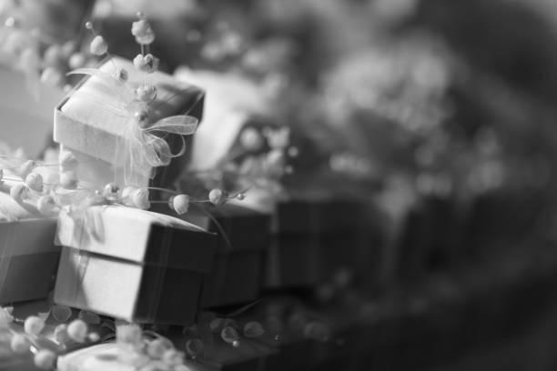 hochzeit gunst - geschenk zur taufe stock-fotos und bilder