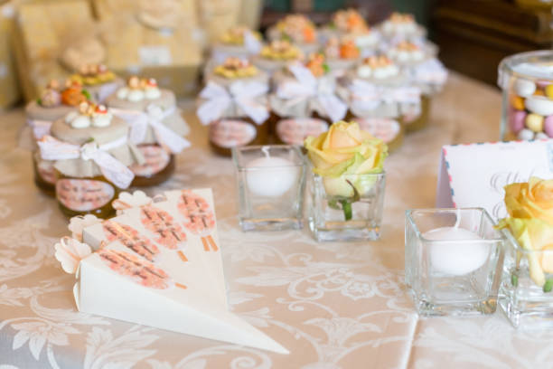 wedding favors for guest - foto stock