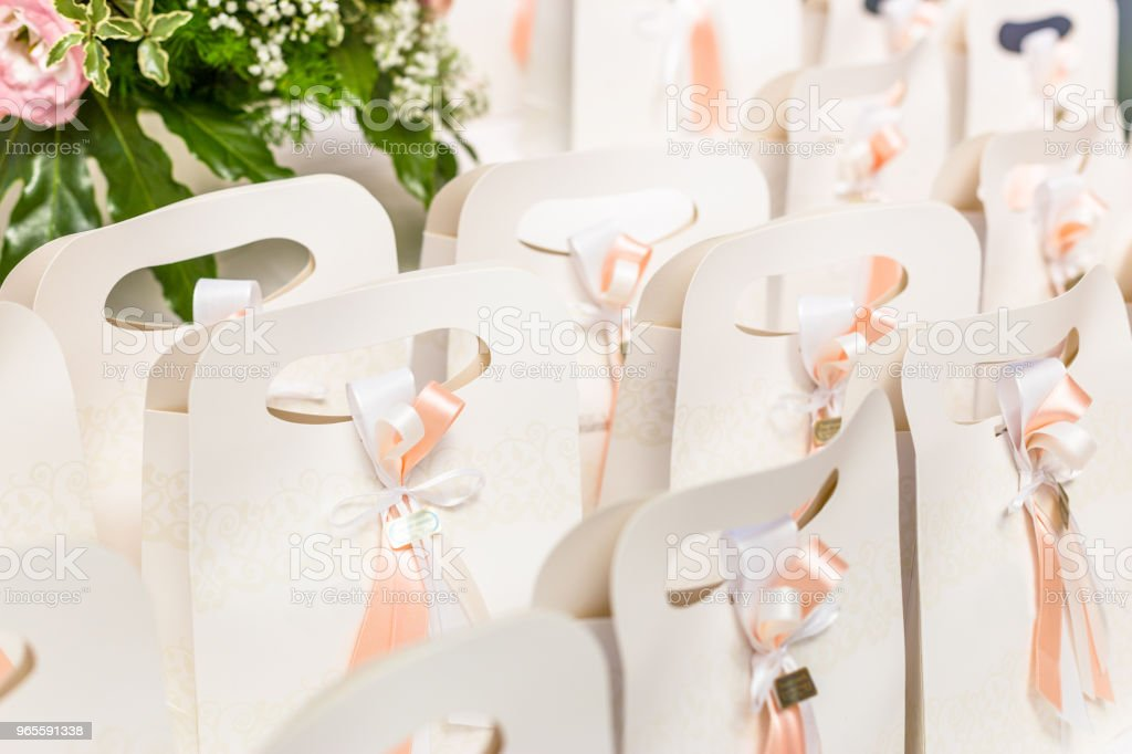 wedding favors for wedding guests - foto stock