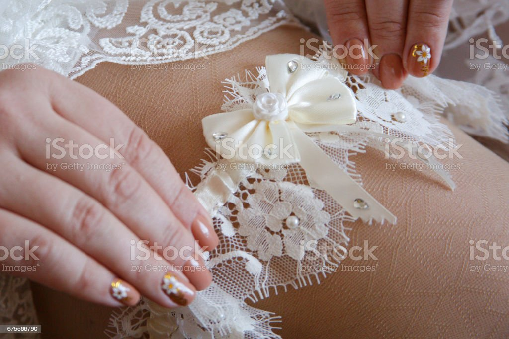wedding fees bride stock photo