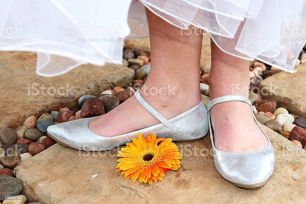 Wedding Feet royalty-free stock photo