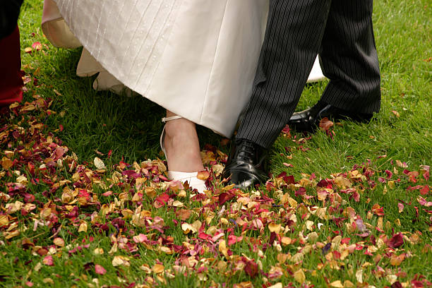 Wedding Feet stock photo