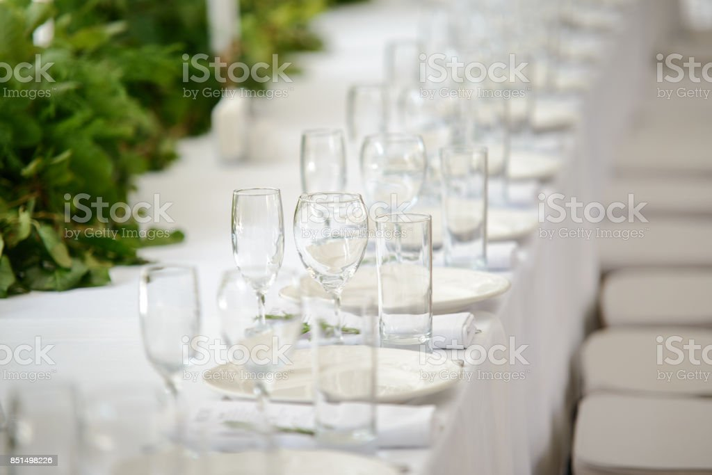 Casamento mesa festiva - foto de acervo