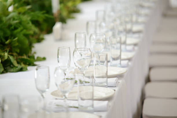 casamento mesa festiva - fine dining - fotografias e filmes do acervo