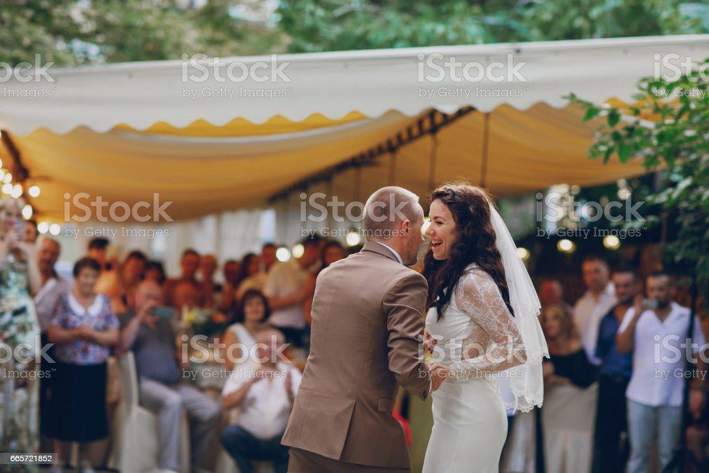 wedding first dance stock photo