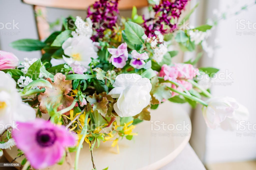 Wedding Floral Composition With Anemone And Ranunculus Beautiful Bridal Bouquet Stock Photo Download Image Now Istock