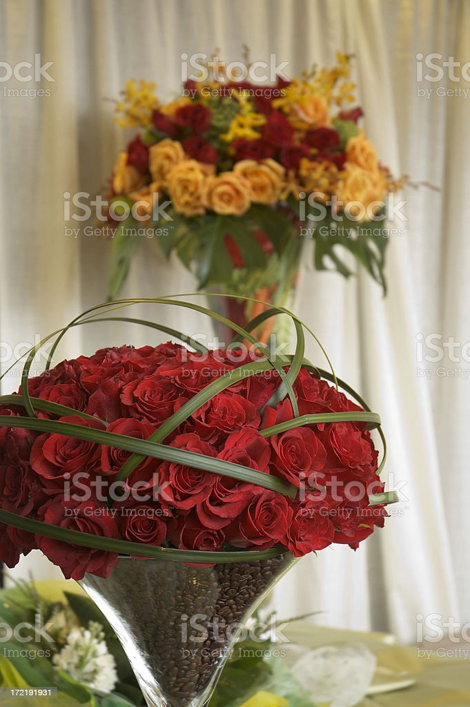 Wedding Flower Arrangements royalty-free stock photo