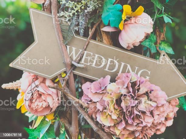 Photo of Wedding flower decor in the summer garden