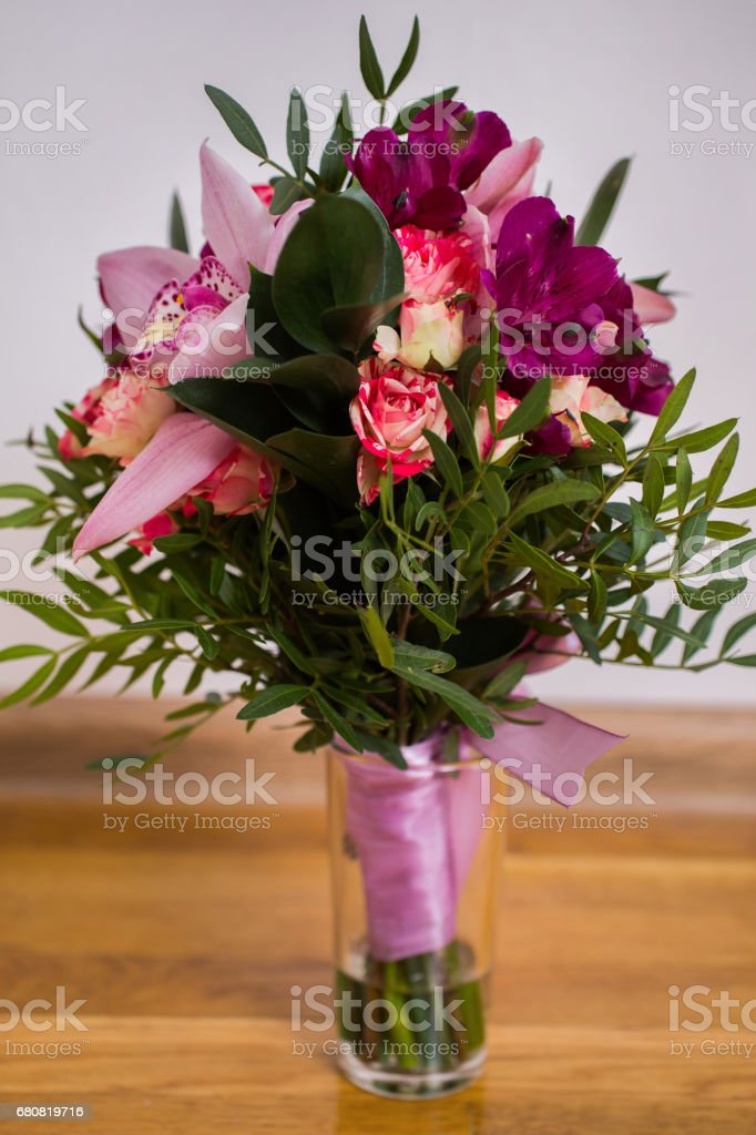 Wedding Flowers Wedding Bouquet Of Red And Pink Peach Yellow Roses