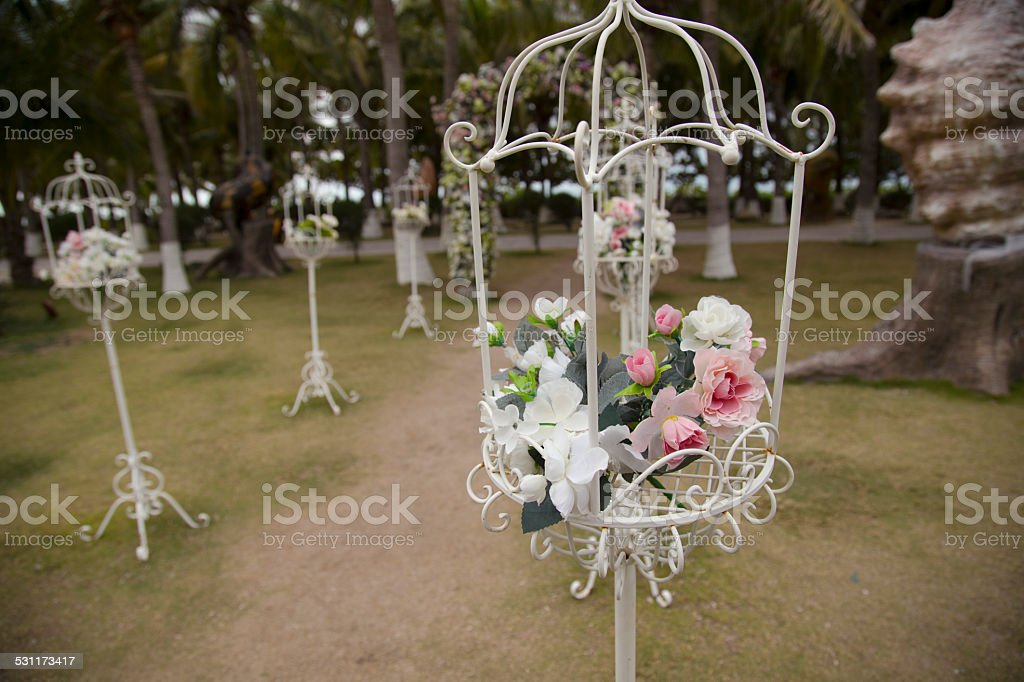Wedding, Garland, Arch, White, Beauty, stock photo
