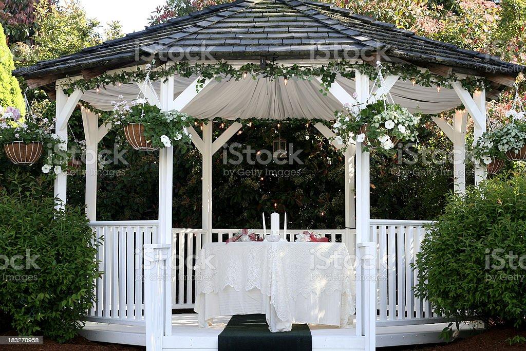 Wedding Gazebo stock photo