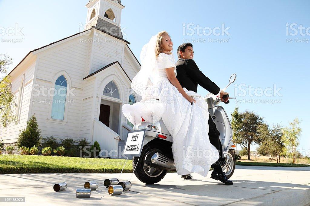 Wedding Getaway royalty-free stock photo