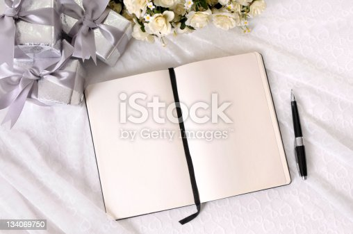 istock Wedding gifts and writing book 134069750