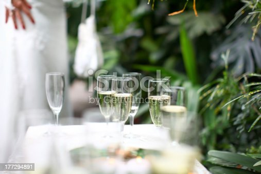 istock Wedding glasses filled with champagne 177294891