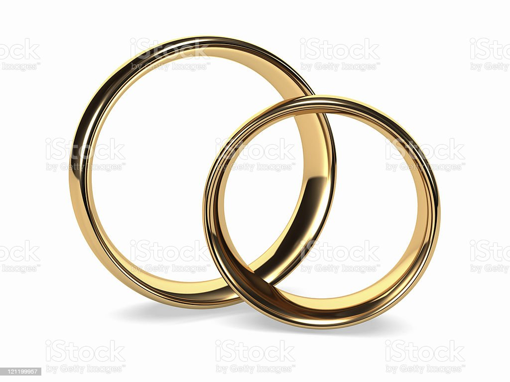 Wedding Gold Rings royalty-free stock photo