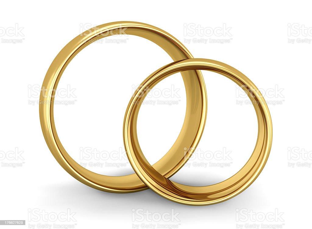 Wedding Gold Rings royalty-free stock photo