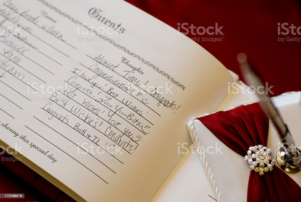 Wedding Guest Book royalty-free stock photo