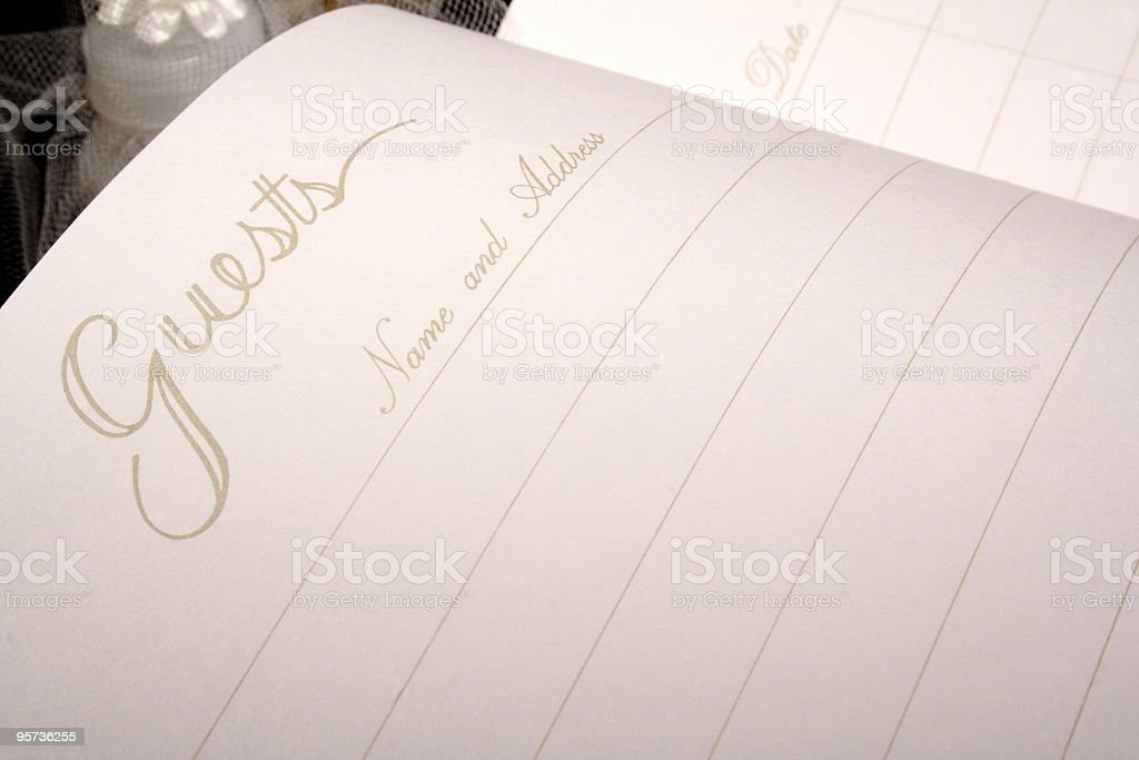 Wedding Guest Book stock photo