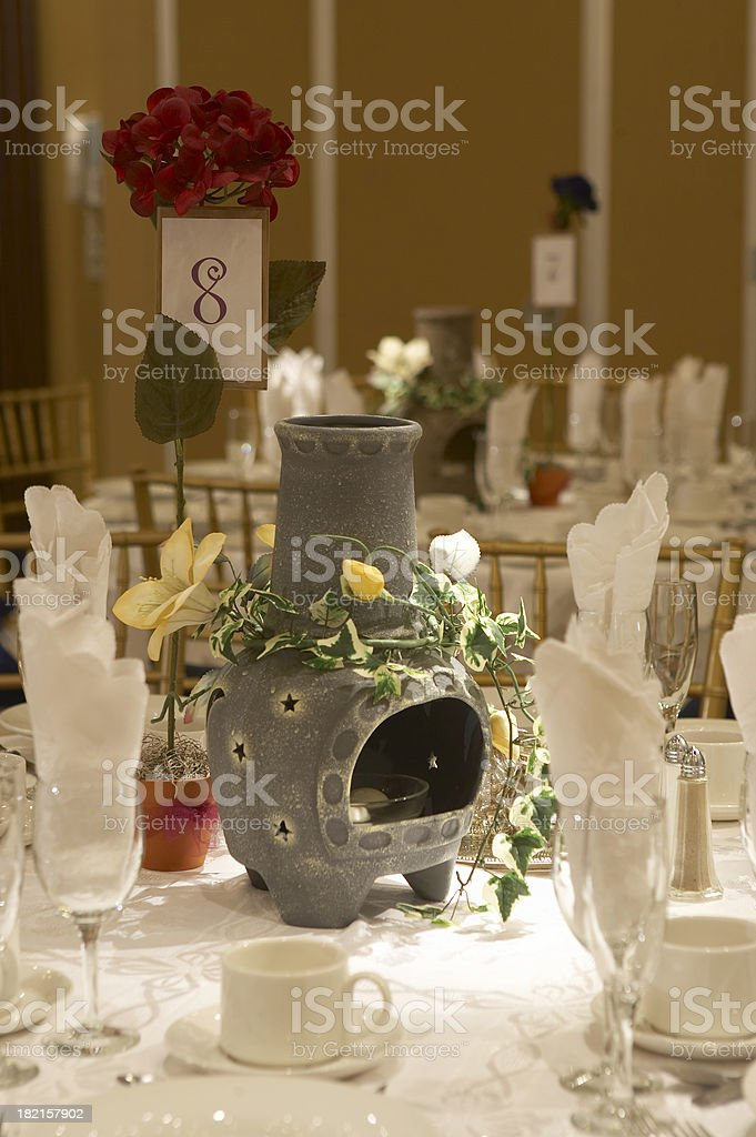 Wedding guests table piece royalty-free stock photo