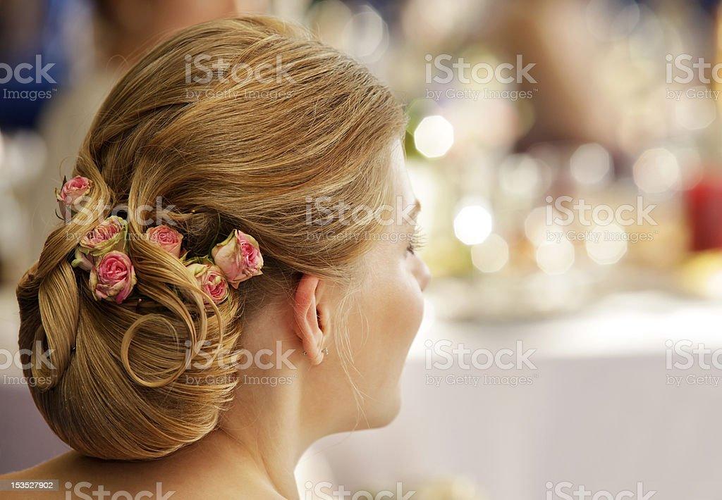 Wedding hairdress royalty-free stock photo