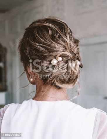 Wedding hairstyle - topknot, hair bun