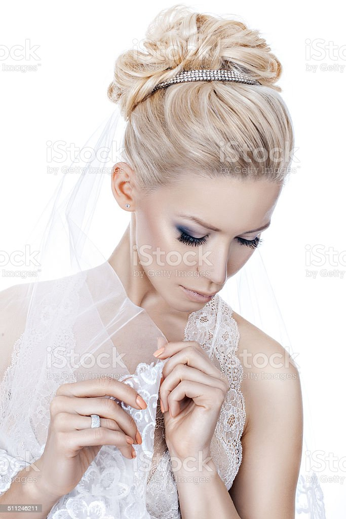 Wedding Hairstyle With Tiara Stock Photo More Pictures Of Adult