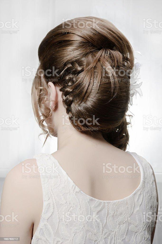 wedding hairsyle royalty-free stock photo