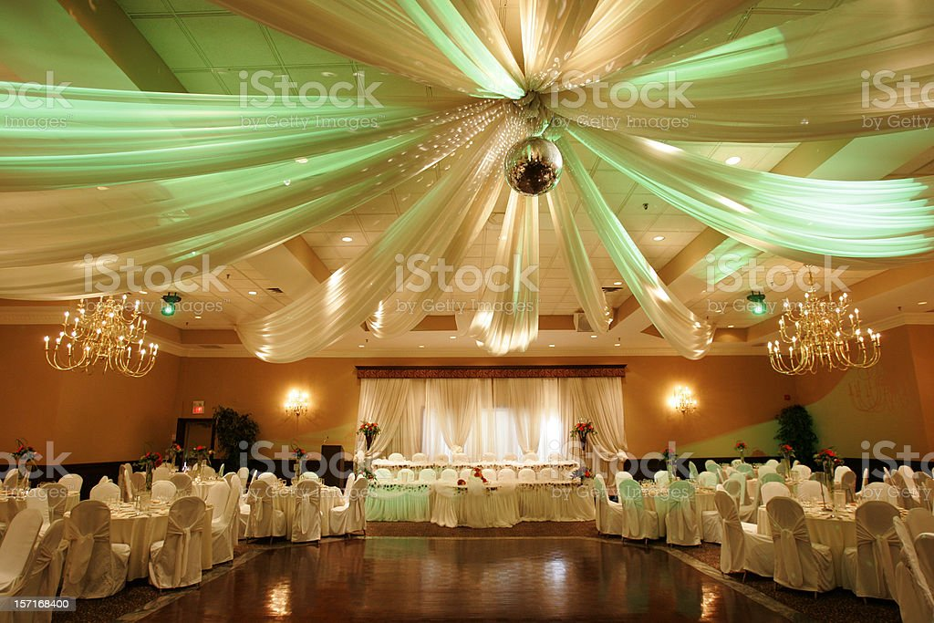 Wedding hall interior stock photo