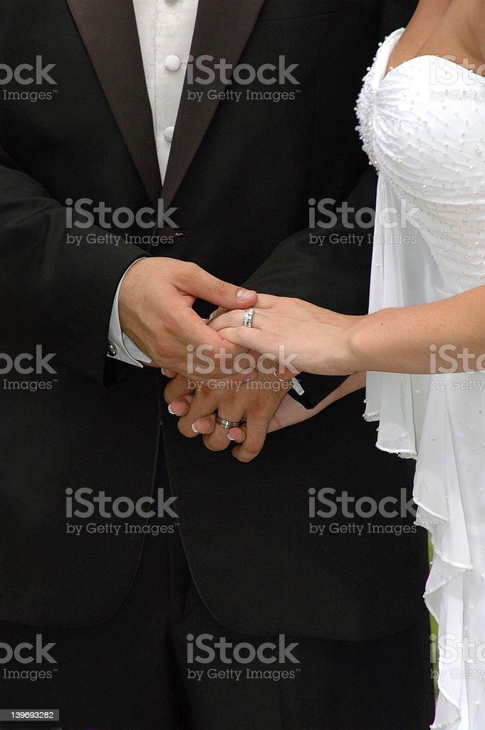 Wedding Hands royalty-free stock photo