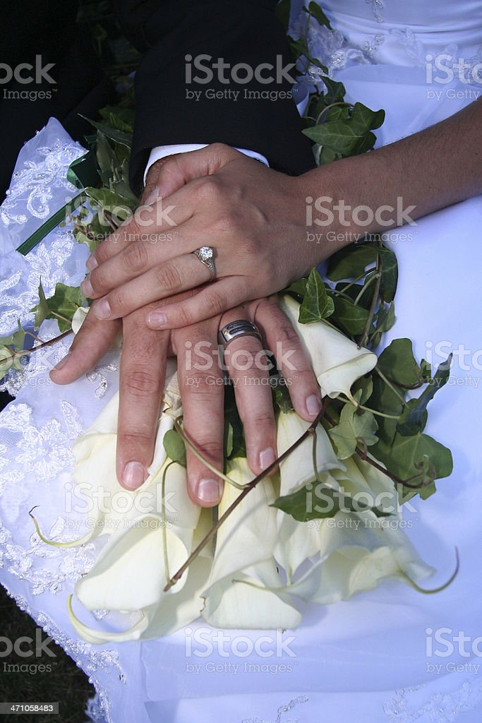 Wedding Hands royalty-free stock photo