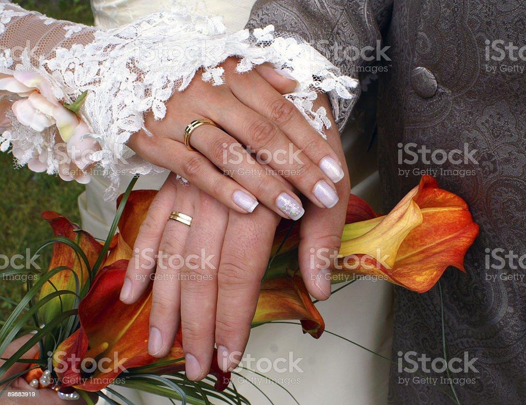 Hochzeit Hände Lizenzfreies stock-foto