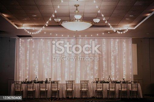 Inside wedding reception
