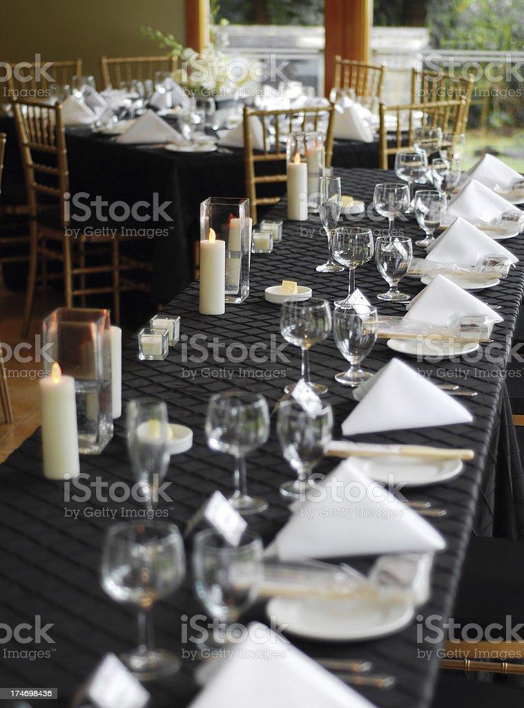 Wedding Head Table royalty-free stock photo