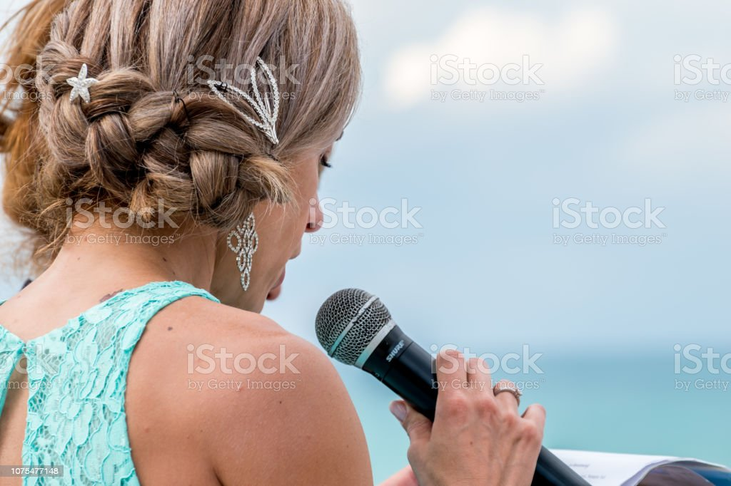 Wedding in the Caribbean stock photo