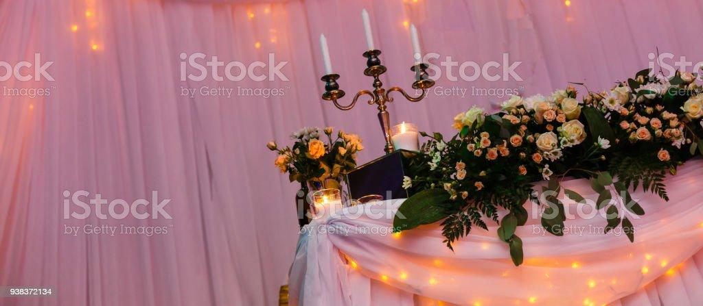 Elegant Rustic Wedding Indoor